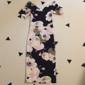 ASOS off shoulder floral dress